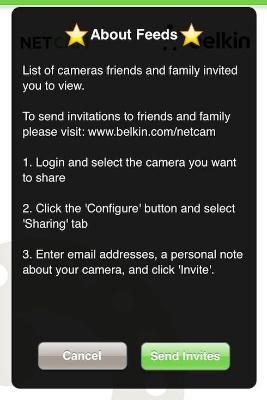 belkin netcam feed options