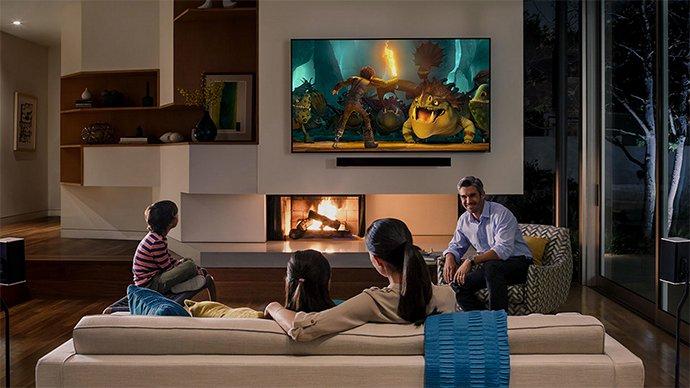 Salon avec téléviseur 4K