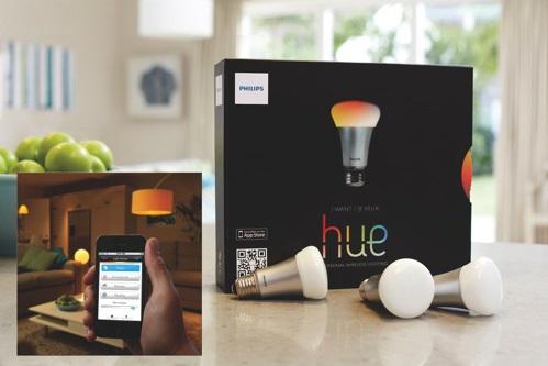 Trousse de démarrage avec ampoule à DEL intelligente hue A19 de 9 W de Philips.jpg