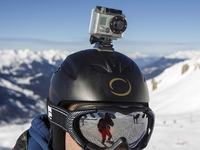 GoPro sur casque