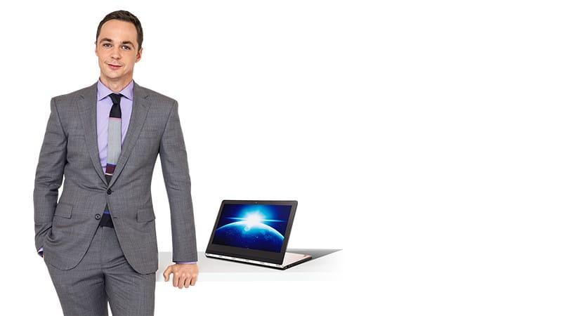 Sheldon Cooper et son portable convertible