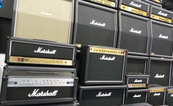 Mur d'amplis Marshall