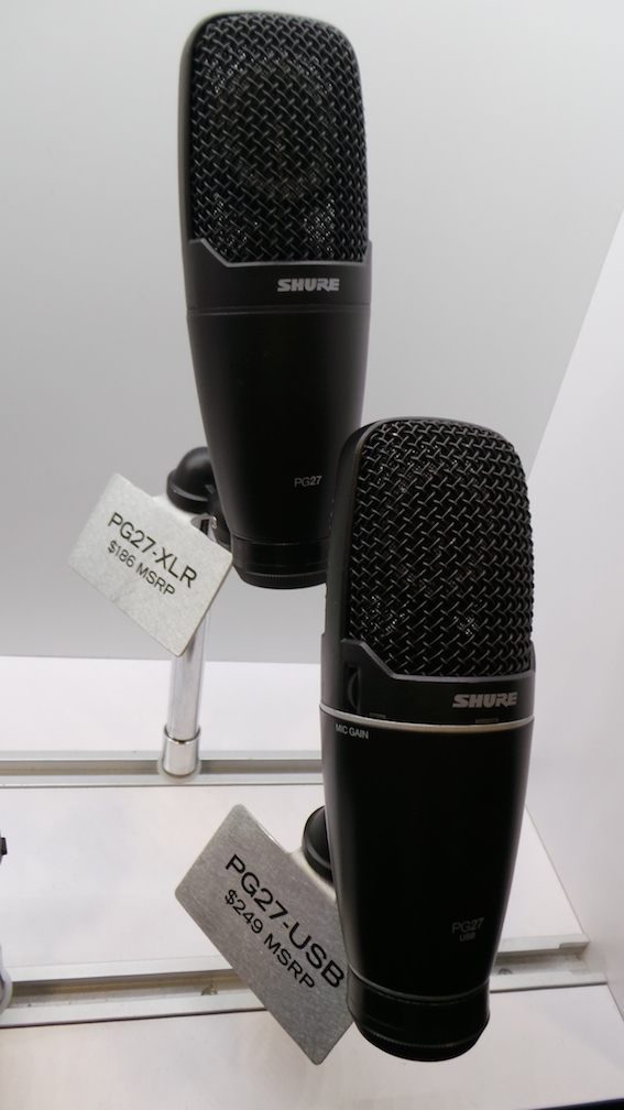 Shure microphones USB