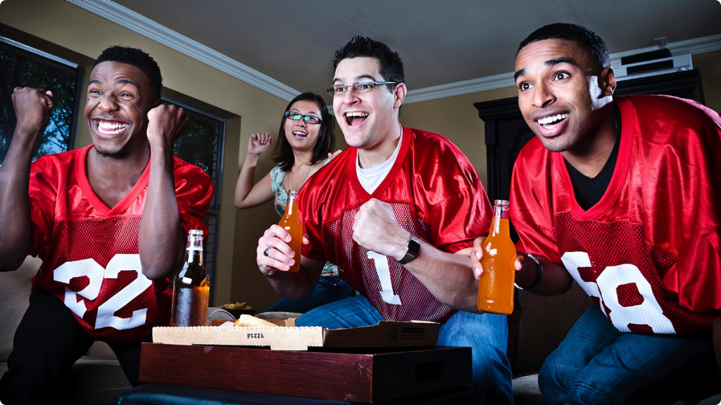 090613-sports-fantasy-football-fans-watching-game-tv-team-men-happy