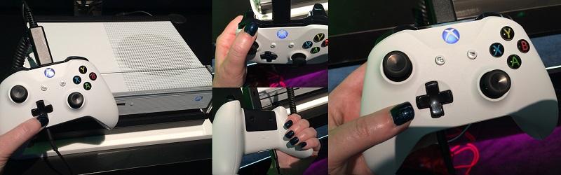 Manette de la Xbox One S essayée à l'E3 2016