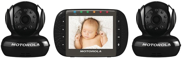 Interphone de surveillance vidéo pour bébé 3,5 po à vision nocturne IR de Motorola