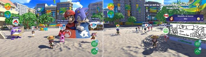Le plage de Copacabana offre une magnifique interface principale - images prises dans le jeu