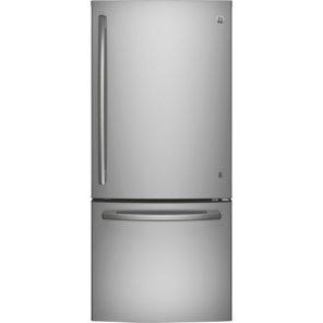 Réfrigérateur à congélateur inférieur avec éclairage DEL 20,9 pi3 30 po de GE