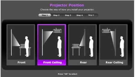 benq Projector-Positions
