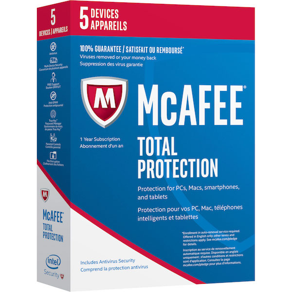 Image of McAfee total protection box