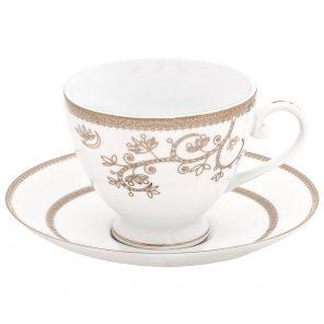 Tasse à thé et soucoupe Empire de Brilliant - Ensemble de 6