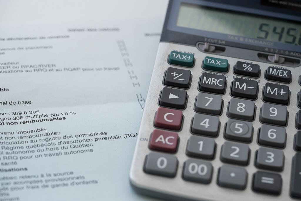 préparer vos impôts calculatrice