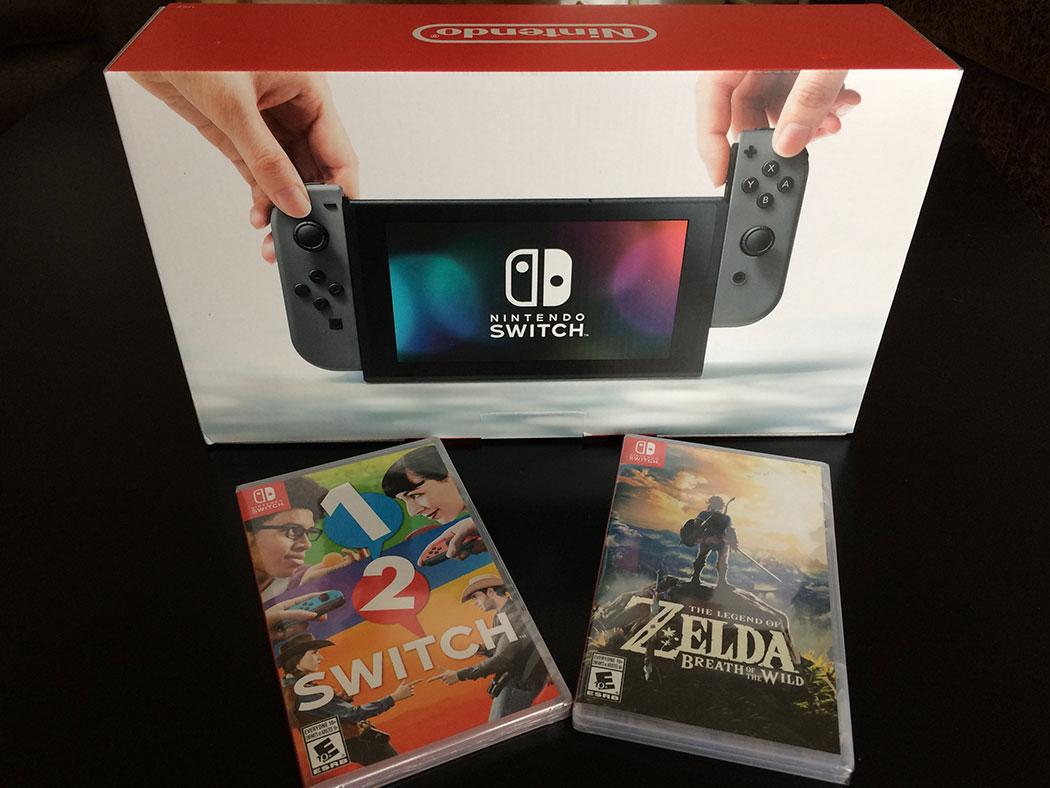 Déballage vidéo de la Nintendo Switch