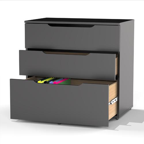 armoire de classement à 3 tiroirs collection Next de Nexera