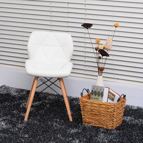 ensemble de deux chaises blanches HOMCOM