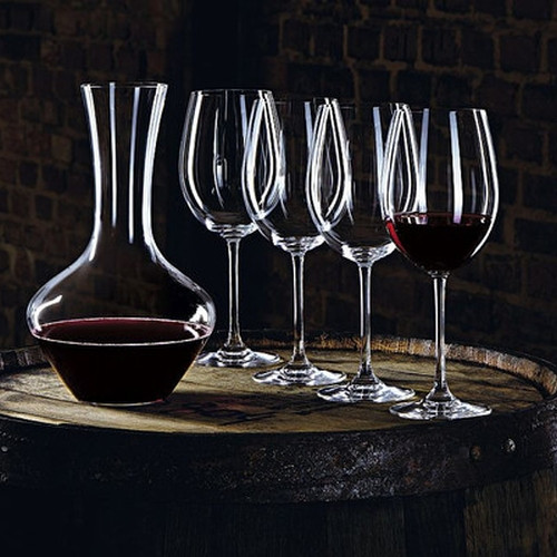 Nachtmann - Vivendi - Premium Bordeaux Wine Glasses and Decanter (Set of 5)