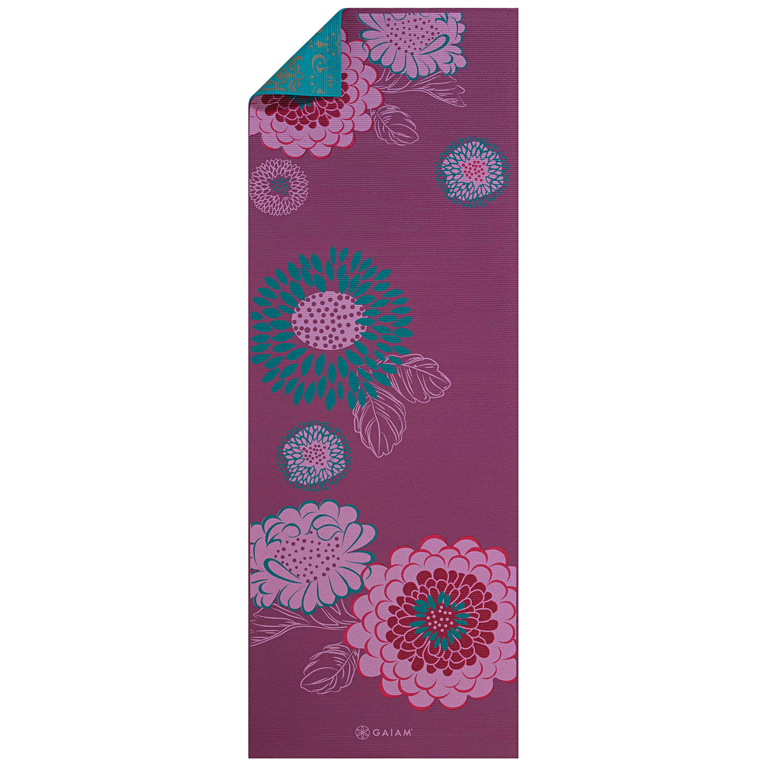 Tapis de yoga réversible de Gaiam - 5 mm - Kiku