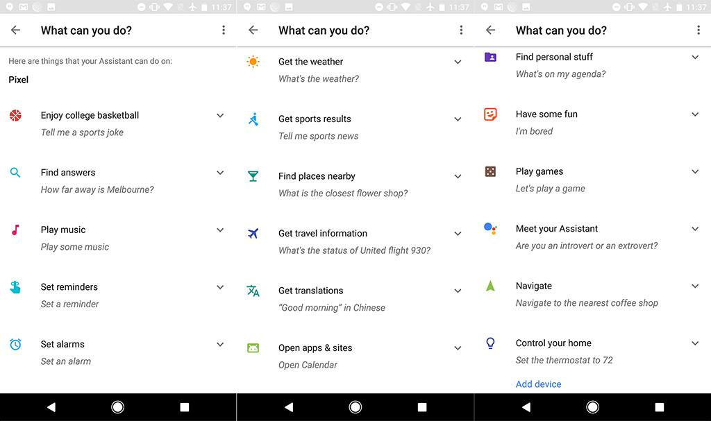 Assistant Google Liste des Commandes en anglais