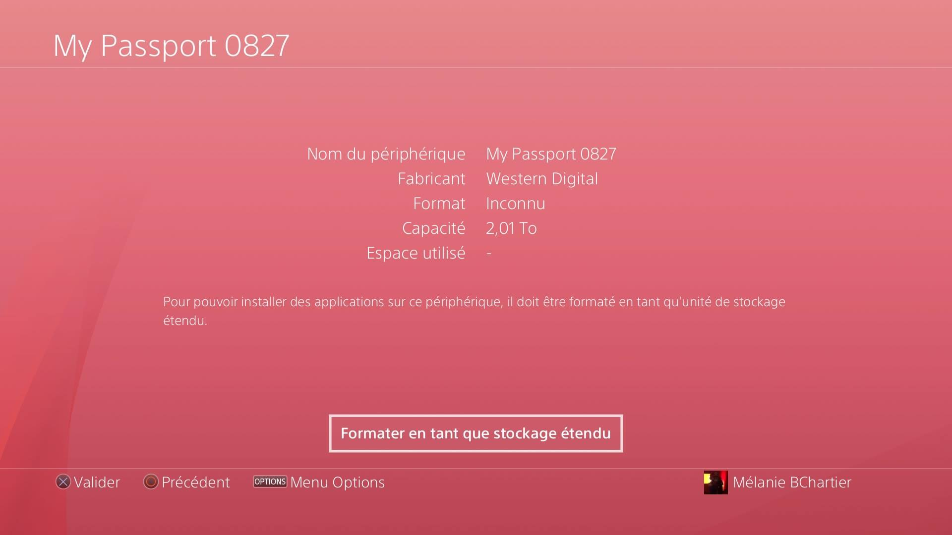 Installation disque dur externe PS4