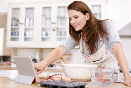 Les péchés mignons d'Émilie : un iPad comme outil de cuisine