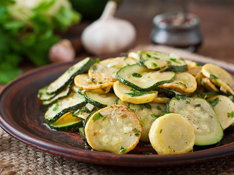 Sauté de zucchini à l'ail