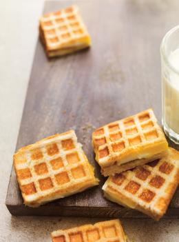 Grilled cheese façon gaufre