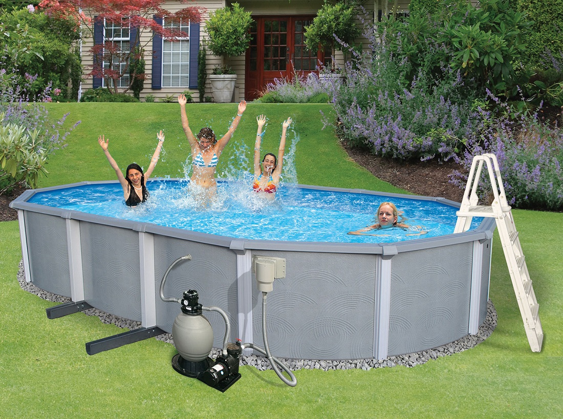 Une piscine hors terre pour l t blogue best buy for Piscine de la riche
