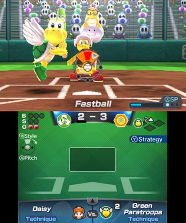 Mario Sports baseball