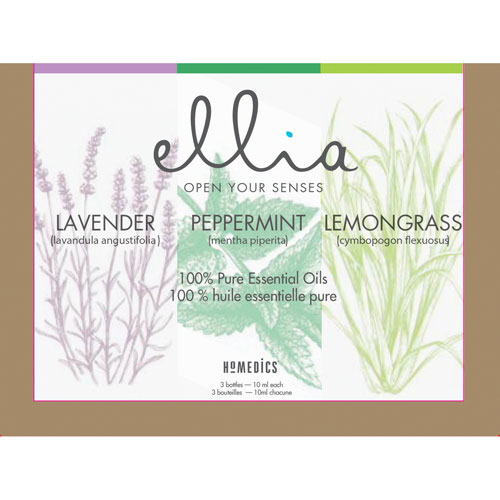 Ensemble 3 huiles essentielles Ellia