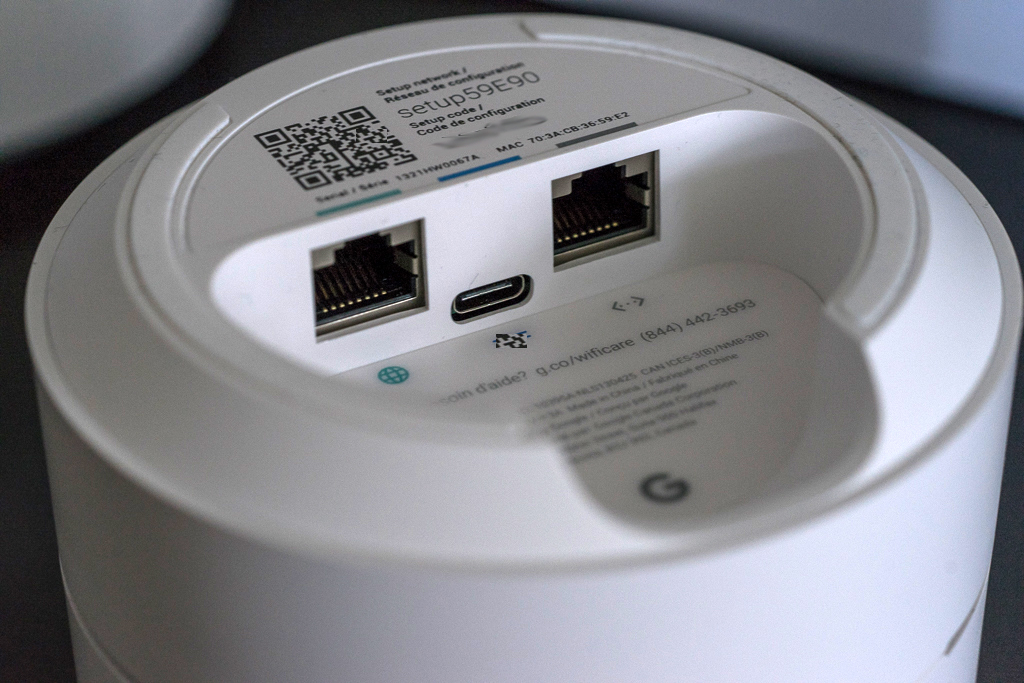 routeur bibande Google Wifi ports Ethernet Gigabit