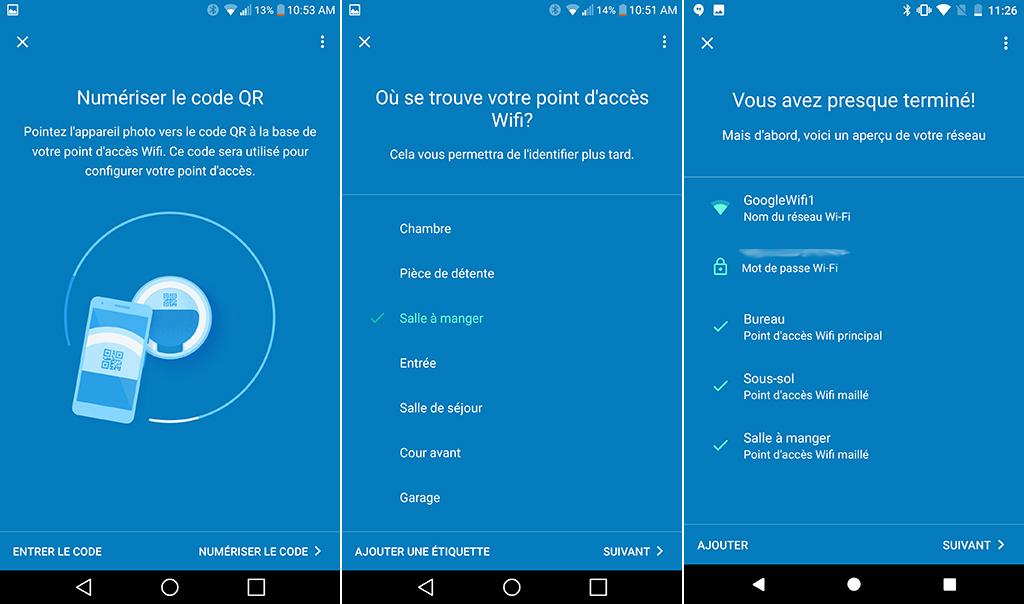 routeur bibande Google Wifi Configuration
