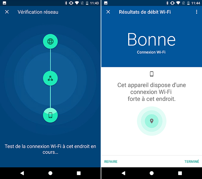 routeur bibande Google Wifitest de vitesse