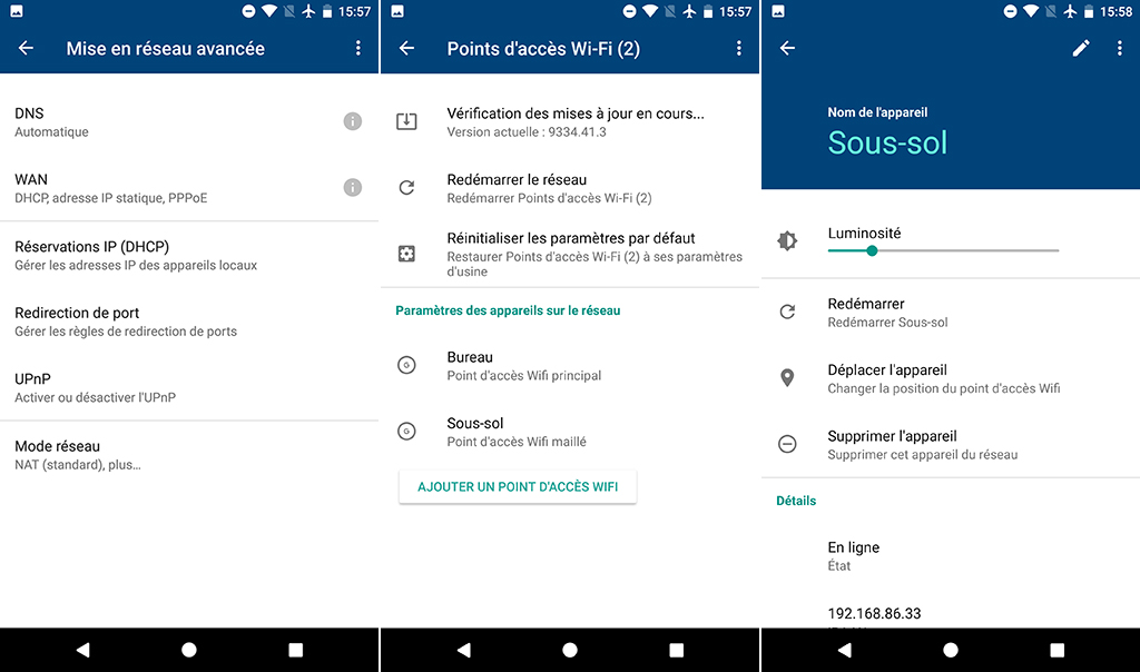 routeur bibande Google Wifi options avancées