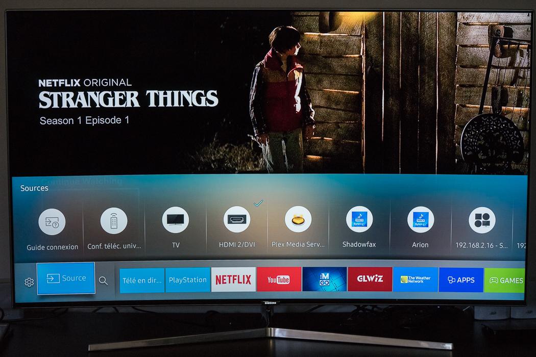 téléviseurs Samsung SUHD menu