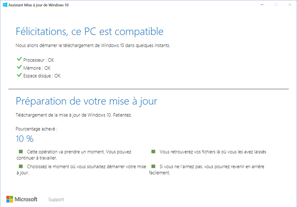 Windows 10 mise à jour des créateurs - Windows Update