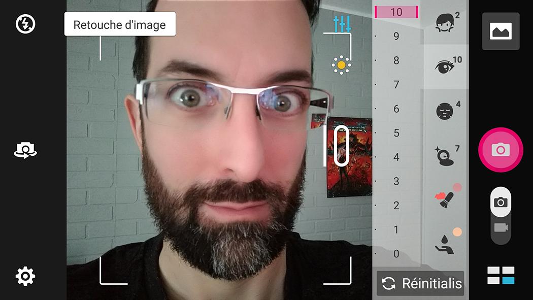 ASUS Zenfone 3 Zoom selfie mode égoportrait