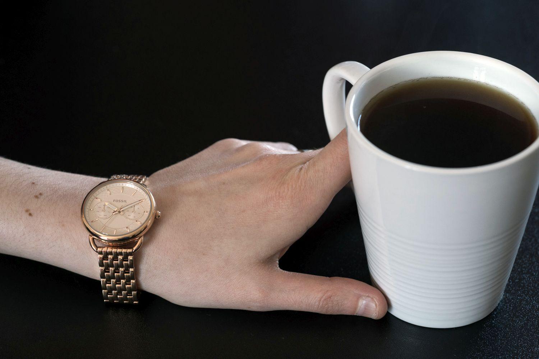 Montre-bijou analogique pour femmes de 35 mm Tailor de Fossil - Rose doré