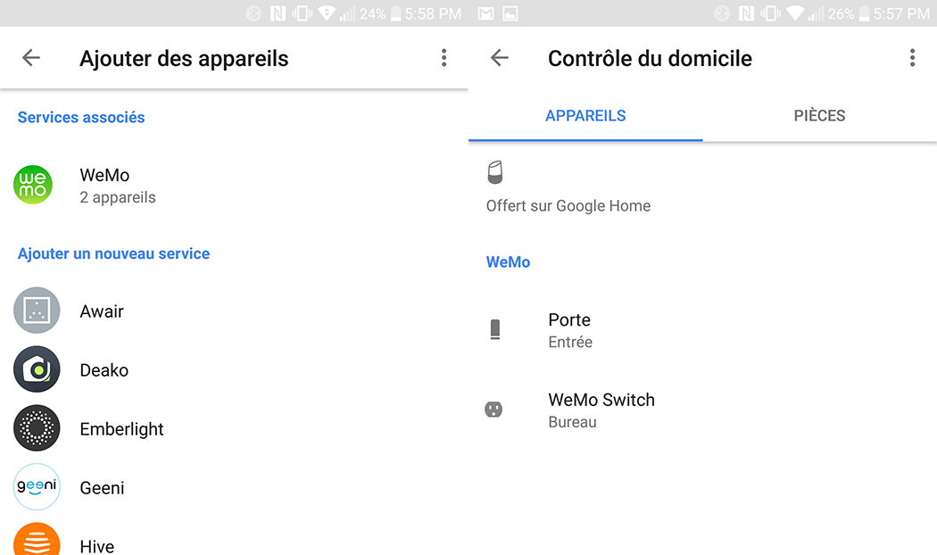 Google Home Domotique