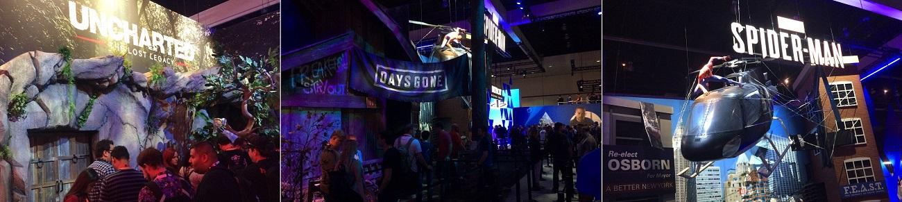 PlayStation booth trio