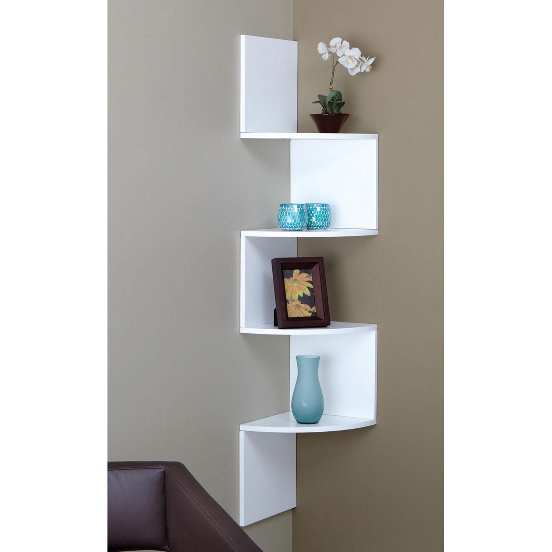 cette étagère murale blanche à 4 tablettes Provo