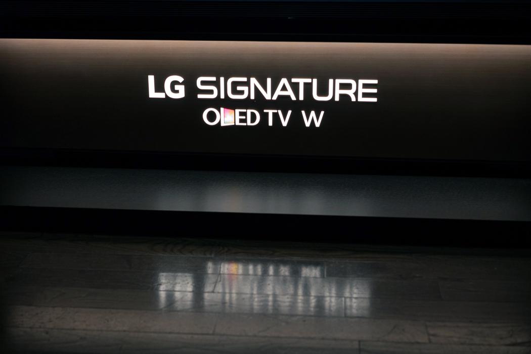 téléviseur DELO papier peint W7 Signature de LG