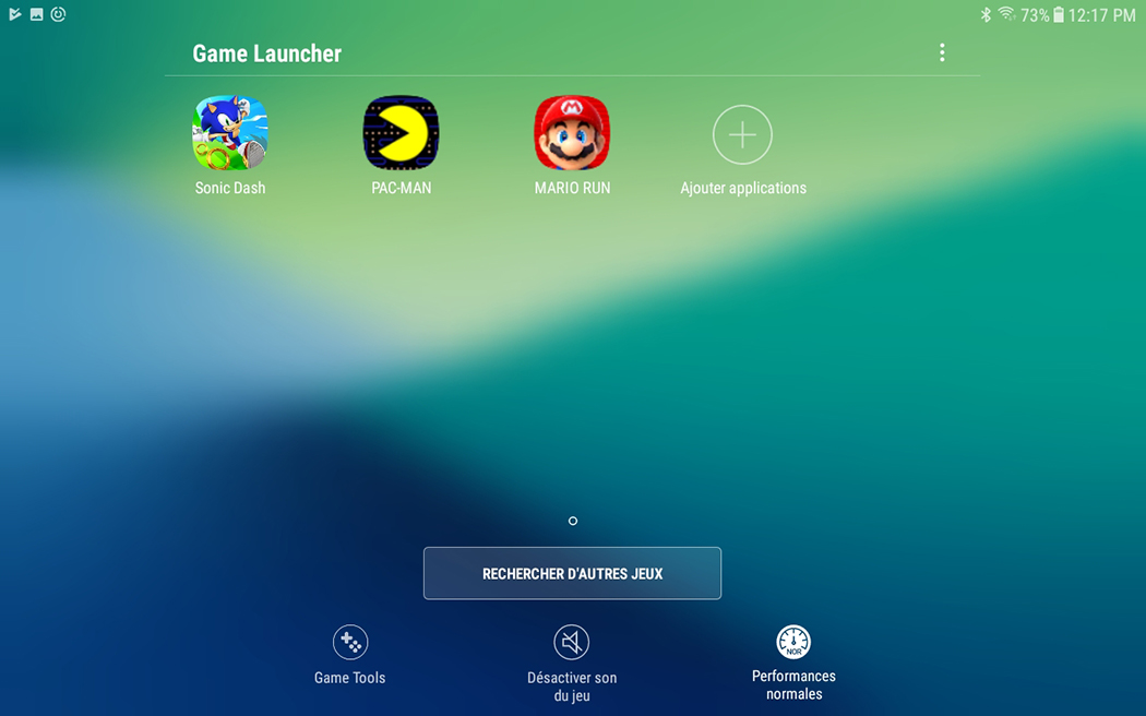Samsung Galaxy Tab A 2017 Game Launcher