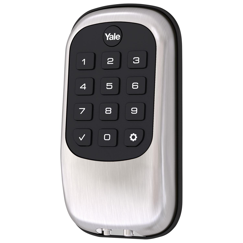 Serrure Key Free B1L de Yale - Pêne à bouton-poussoir - Nickel satiné