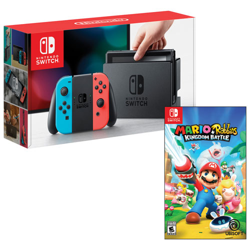 Switch Mario + Rabbids bleu rouge
