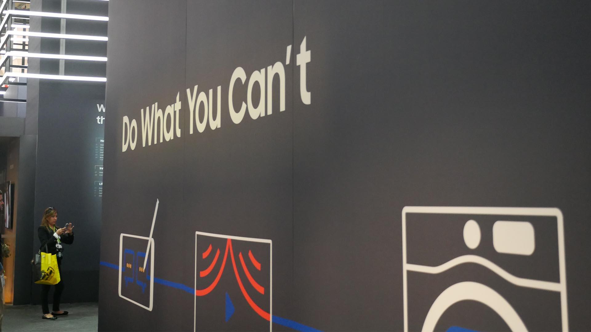 Affiche Samsung au CES