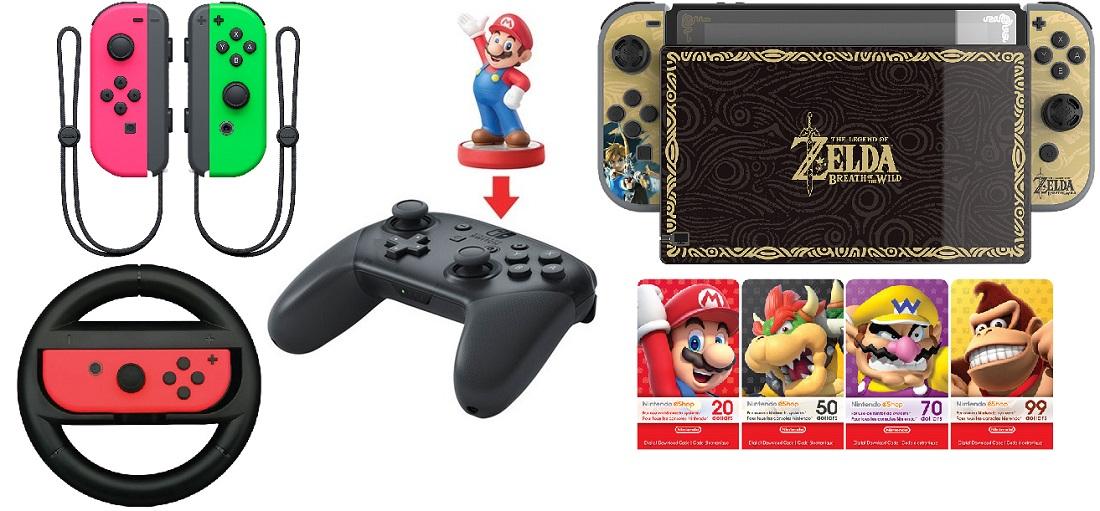 Accessoires intro Nintendo Switch