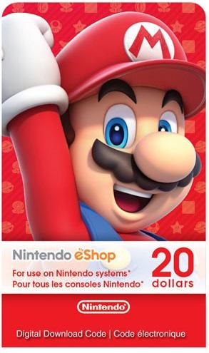 carte Nintendo eshop
