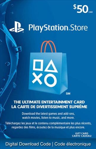 carte prépayée PlayStation