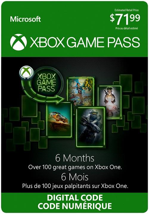 Xbox Game Pass 6 mois