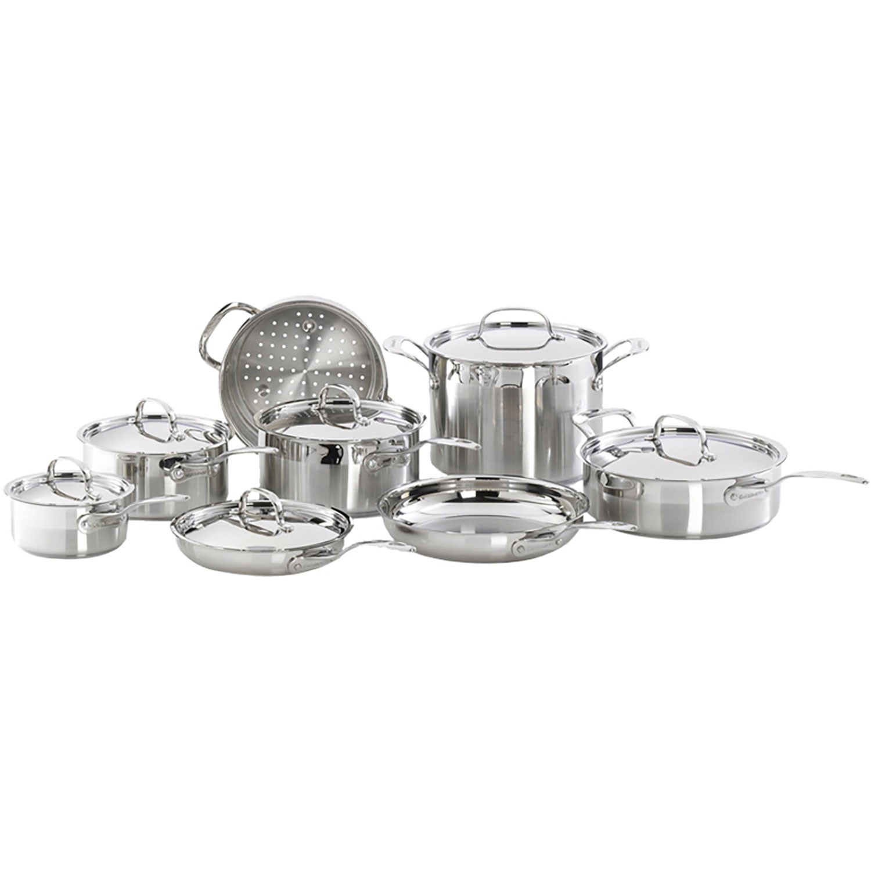 Batterie de cuisine de 14 pièces en acier inoxydable de Cuisinart